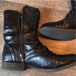 MADDEN GIRL - Zip Up Combat Boots